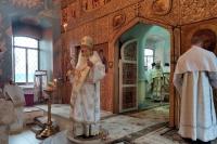 22 августа, в Неделю 9-ю по Пятидесятнице, день памяти апостола Матфия, митрополит Орловский и Болховский Тихон возглавил Божественную литургию в Свято-Троицком храме города Мценска.