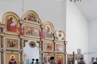 В Неделю 10-ю по Пятидесятнице митрополит Орловский и Болховский Тихон совершил Божественную Литургию в Свято-Успенском храме поселка Тросна. 29 августа 2021 г.