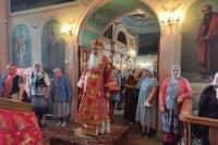 В день памяти святых Бориса и Глеба Владыка Тихон совершил Литургию в селе Лепешкино. 6 августа 2021 г.