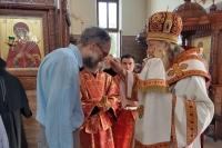 В канун дня памяти великомученика и целителя Пантелеимона митрополит Тихон возглавил Всенощное бдение в Свято-Успенском монастыре г. Орла. 8 августа 2021 г.