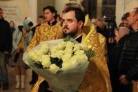 Митрополит Орловский и Болховский Тихон в канун Недели 13-й по Пятидесятнице, совершил всенощное бдение в Богоявленском соборе города Орла. 18 сентября 2021 г.