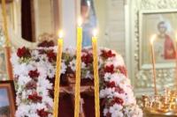 Митрополит Орловский и Болховский Тихон возглавил всенощное бдение в храме в честь святых мучениц Веры, Надежды, Любови и матери их Софии  в микрорайоне «Зареченский» в городе Орле. 29 сентября 2021 г.