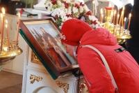 Митрополит Орловский и Болховский Тихон совершил Божественную литургию в храме мучениц Веры, Надежды, Любови и матери их Софии в микрорайоне «Зареченский» города Орла. 30 сентября 2021 г.