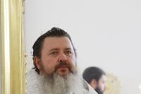 Митрополит Орловский и Болховский Тихон совершил в сослужении схиархимандрита Илия (Ноздрина) великое освящение храма иконы Божией Матери «Спорительница хлебов» в подсобном хозяйстве «Орловский Колос» в Орловском районе. 24 сентября 2021 г.