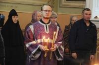 В канун Недели 15-й по Пятидесятнице, по Воздвижении, митрополит Орловский и Болховский Тихон возглавил всенощное бдение в Ахтырском кафедральном соборе города Орла. 2 октября 2021 г.