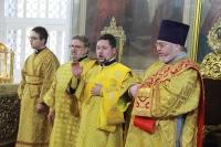 В канун Недели 16-й по Пятидесятнице, митрополит Орловский и Болховский Тихон возглавил всенощное бдение в Ахтырском кафедральном соборе города Орла. 9 октября 2021 г.