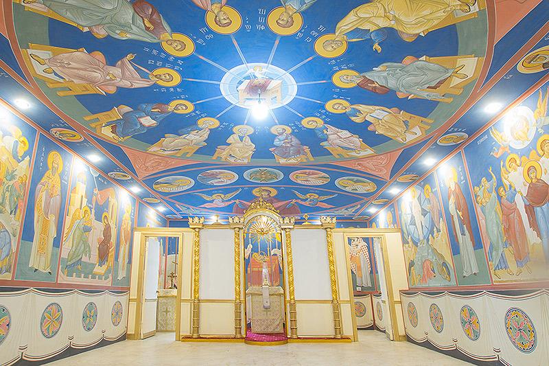 Расписанный в честь Собора Орловских святых малый храм впервые появился в Орловской митрополии